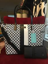 NWT KATE SPADE ADAIRA CLASSIC SPADE PENN PLACE GRAINY VINYL BABY BAG IN BLACK