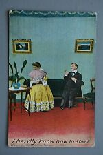 R&L Postcard: Comic, Bamforth 1366, Edwardian Card, Shy Lady With Fan
