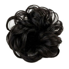 Fashion Ladies Curly Wavy Bun Cover Hairpiece Clip in Scrunchie Hair Extension