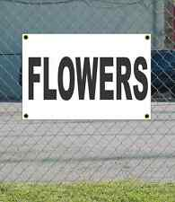 2x3 FLOWERS Black & White Banner Sign NEW Discount Size & Price FREE SHIP