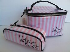 2 Victoria's Secret Train Travel Case  And Cosmetic Bag New Set.