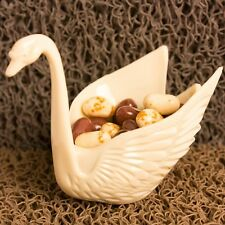 Set of 12 Beautiful Ivory Swan Wedding Favors Candy Dish Containers 3""