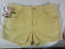 ROXY Girls Ladies SHORTS Dixie Five Pocket Gold SIZE 7 NEW