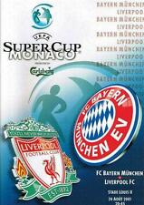 * 2001 SUPER CUP FINAL - LIVERPOOL v BAYERN MUNICH *