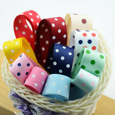 11pcs Dots Design Grosgrain Ribbon Floral Printed DIY Craft Hairband Clips