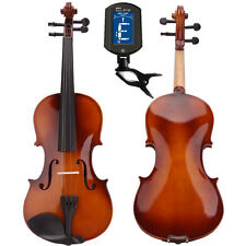 New School Student Acoustic Violin Fiddle 4/4 Natural +Case+Bow+Rosin+Tuner