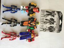 Power rangers RPM Battelize up Figures - full rare set of 3 & back card