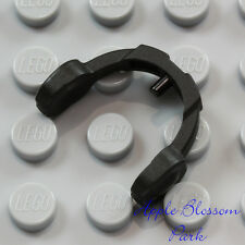 NEW Lego Minifig BLACK HEADPHONES - Friends Hair Hat Head Gear Music Ear Phones