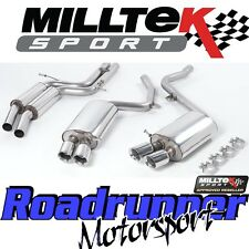 Milltek SSXAU134 Audi S5 4.2 Coupe 07-11 Exhaust System Cat Back Resonated GT80