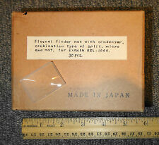 VINTAGE FRESNEL FINDER MAT EXAKTA RTL-1000 CAMERA LENS NOS BOX LOT OF 30