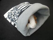 guinea pig bed snuggle pouch sack cuddle cup sleeping bag degu rat hedgehog lge