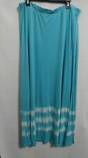 Dressbarn Roz & Ali Woman Plus 2X Turquoise Sequin Knit Maxi Skirt NWOT