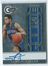 2010-11 Certified Landry Fields JERSEY RELIC AUTO RC #160 87/599 (damaged)