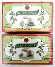 NETTLE TEA 40 Tea bags/2 boxes x 20 tea bags/.From BIOPROGRAMA