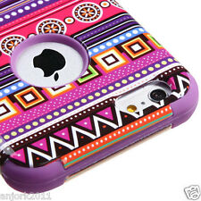 "iPhone 6 Plus 5.5"" Hybrid T Armor Defender Case Skin Cover Tribal Fashion/Purple"