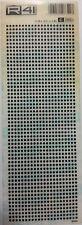 R41 C1905L FOGLIO 9 X 25 cm TRASFERIBILI PIAZZOLE 2,36 X 0,51 X 3,96