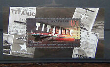 Bulgaria 2012 100th Anniversary of Titanic Miniature sheet MNH