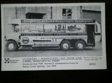 POSTCARD RP LIVERPOOL THORNYCROFT BUS 6 WHELLED