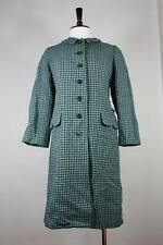 Vintage Harris tweed wool coat S to M jacket 50's 60's a-line made in uk vtg