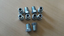 """BRAKE PIPE ENDS 3/8"""" x 24 UNF SHORT  THREAD MALE OLD USA VEHICLES 10 PACK"""