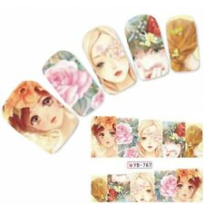 Tattoo Nail Art Geisha Aufkleber Japan Anime Manga Water Decall Neu!