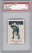 1952 Laval Dairy Subset  Hockey Card Shawinigan Falls #95 Bob Leger Graded PSA 7