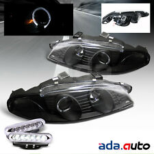 1995-1996 Mitsubishi Eclipse LED Halo Projector Headlights+LED Fog Lamps G2