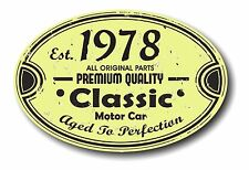 Retro Distressed Aged To Perfection Classic Oval 1978 Vintage Car sticker decal