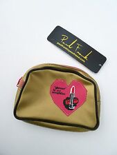 Paul Frank Gold Cosmetic Pouch BNWT + PF Mini Patches + Wristbands New, Combo