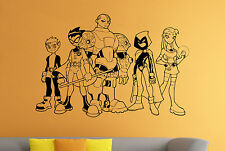 Wall Decal Teen Titans Heroes Vinyl Stickers Superhero Wall Art Mural Decor 19tn