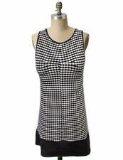 COOPERATIVE Black Sleeveless Tunic Top Geometric Print Sz XS URBAN OUTFITTERS