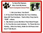Funny Dog Border Collie House Rules Refrigerator / Magnet Gift Card Idea