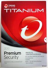 Trend Micro LOT of 5 Pcs Titanium Maximum Security Premium 2013 5Users AntiVirus