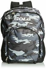 Gola Sports Casual Boys Men's Army Camouflage Print Zip Backpack Grey White New