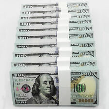 1000pcs 1:1 SIZE New Versions USD $100 Play Money Fake Banknotes Paper Money UNC