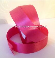 22m Satin Ribbon 25mm shiny 1 inch wide various colors for wedding party cake