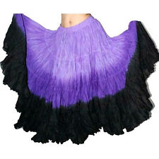 "Lilac Purple Black Tribal gypsy 25 yards belly dance dancing cotton skirt 36"" -I"