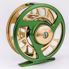 NuCAST SYNERGY FLY REEL, For 3/4 Wt FLY LINES, GREEN/GOLD