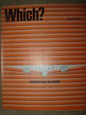 VINTAGE WHICH MAGAZINE APRIL 1971 PAIN KILLERS - ELECTRIC KETTLES -  BLINDS