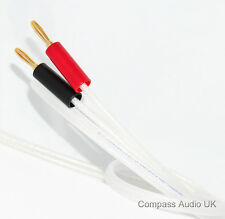 2 x2.5m QED Silver Anniversary XT Speaker Cable Terminated Gold 4mm Banana Plugs