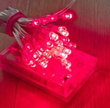 30 RED LED AA Battery Lights For Glamping Download Festival Camping