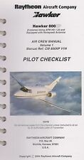 Raytheon Hawker 800XP Pilot Checklist (2004)