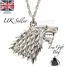 Game of Stark Wolf Thrones Necklace Pendant Present Gift UK Seller GOT House