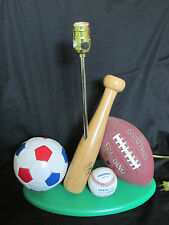 Lite Source All Sport Lamp Base Basketball~Baseball~Soccer~Football (NO SHADE)