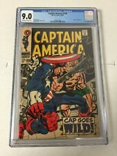 Captain America 106 Cgc 9.0 Ow/w Pages