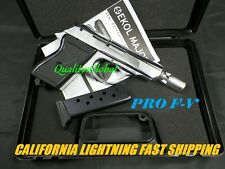 NEWEST FLIM PRO F-V CHROME METAL 007 BOND REPLICA WALTHER PPK MOVIE PROP GUN 9M