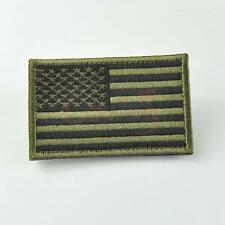 USA American Flag Velcro Tactical Military Morale Embroidered Patch Army Green