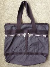 Le SportSac Black Nylon Tote Shoulder Shopper Bag~SEE DESCRIP