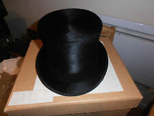 Vintage Fox Hunting Herbert Johnson  Quality Black Top Hat size 7 1/8