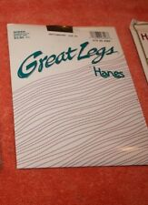 3 pairs of Hanes size CD Pantyhoses new old stock in package